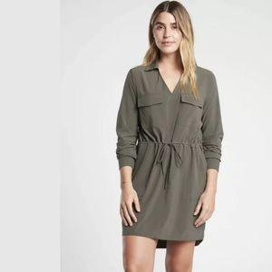 ATHLETA Zuma Shirtdress Mountain Olive NWT